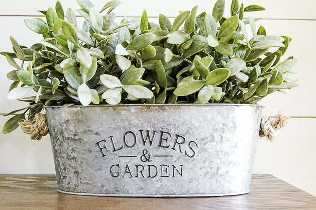 How to Easily Age Inexpensive Galvanized Planters