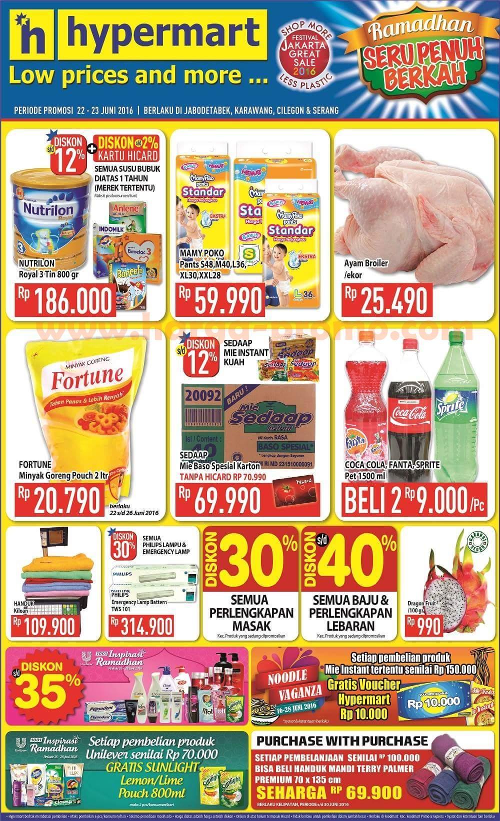 Katalog Promo Hypermart Terbaru Weekday Periode 22 23 Juni 2016 Up