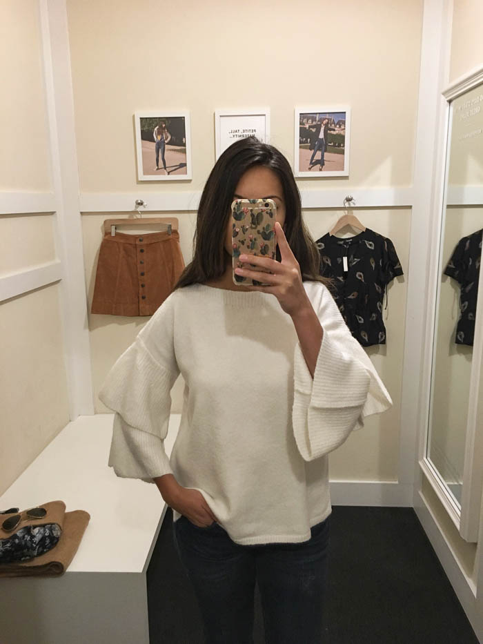 cream over sized sweater