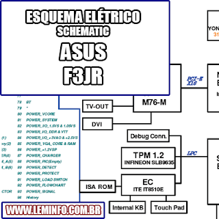 Esquema Elétrico Notebook Laptop Asus F3JR Manual de Serviço  Service Manual schematic Diagram Notebook Laptop Asus F3J R    Esquematico Notebook Laptop Asus F3J R