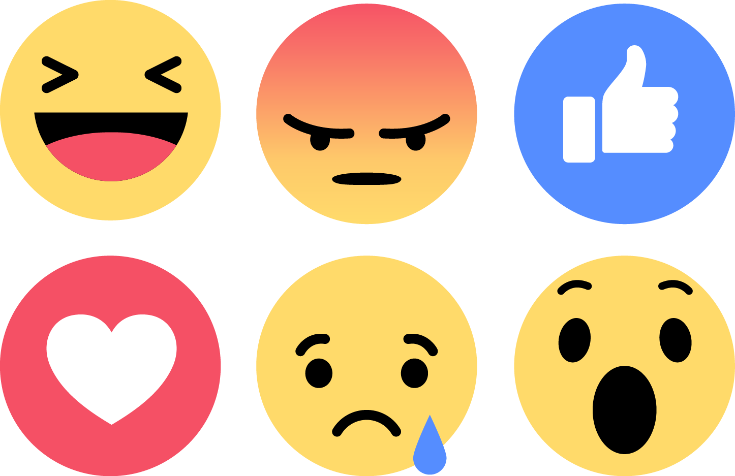 download emoji facebook vector like love angry sad wow smail
