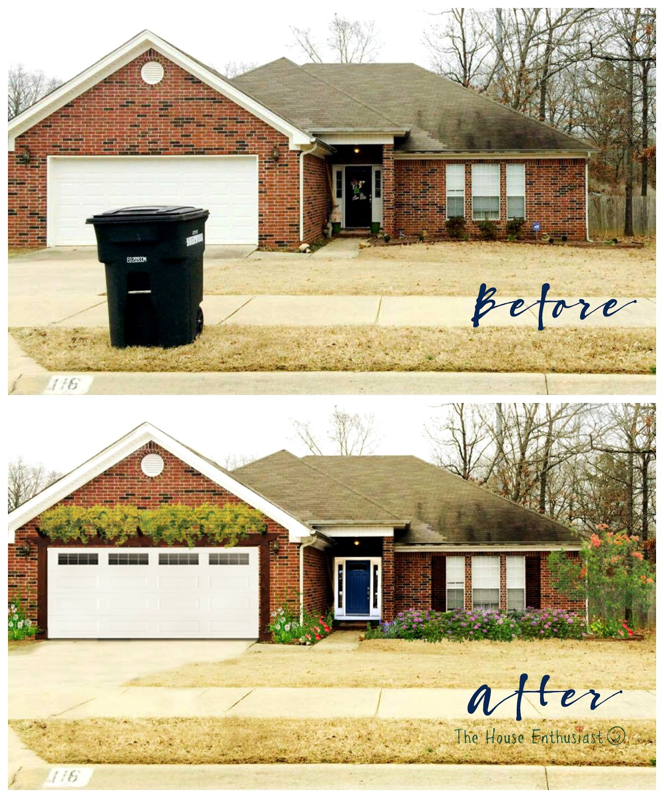 Home Makover: The House Enthusiast: Before And After
