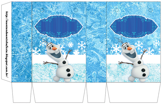 Olaf Smiling: Free Printable Boxes.