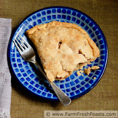 a serving of sausage pasty meat pie