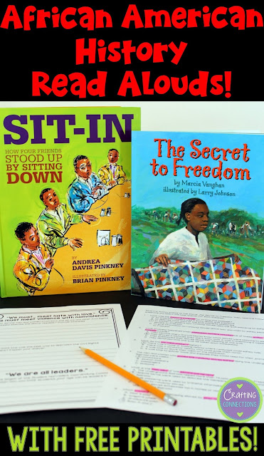 Two incredible books that highlight important aspects of African American history. This blog post also contains a FREE printable that can be used as a follow-up activity for each book! Great for Black History Month or for any time of the year!