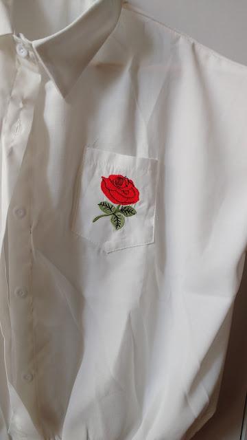 Recebidos Loja Rosegal, blusa branca, detalhe rosa,