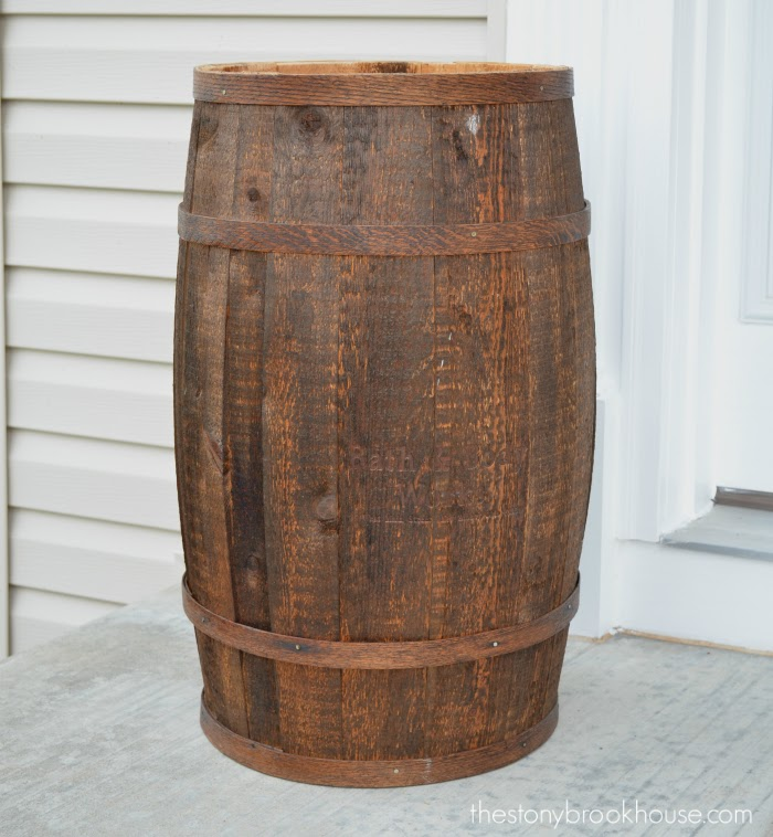 Dark Stained Barrel
