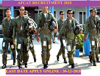 AFCAT 2018-APPLY ONLINE FOR 163 POSTS
