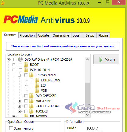 AntiVirus PCMAV 10.0.9 - UBG Software