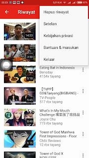 Cara Menghapus Riwayat Youtube