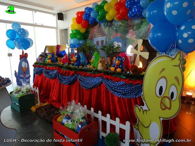 Decoração de mesa temática Galinha Pintadinha