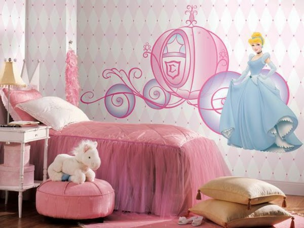 cuarto para niña color rosa