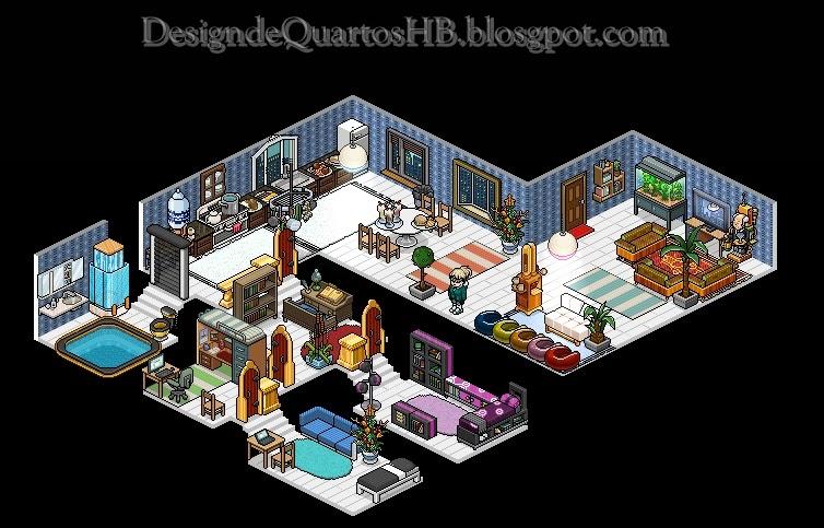 Mans es luxuosas do habbo hotel design de quartos habbo for Casa moderna habbo 2017