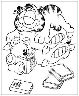 Ausmalbilder Garfield Zum Ausdrucken