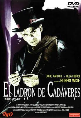 Carátula DVD de El Ladrón de Cadáveres