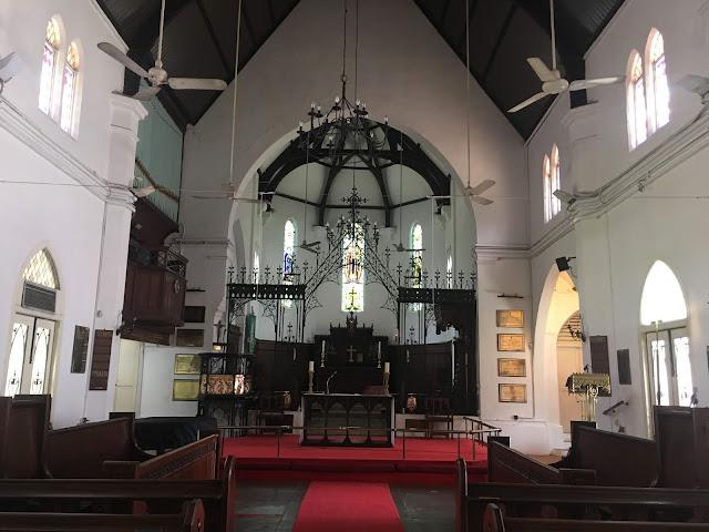 interior of st. mary's cathedral, kuala lumpur, malayisa