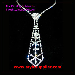diamond necktie necklaces