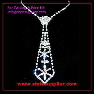 diamond necktie necklaces