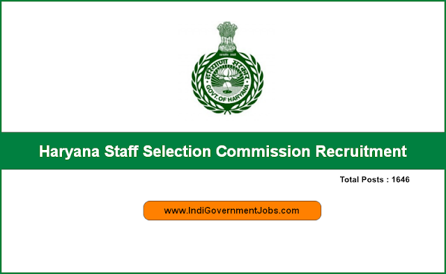 Haryana Staff Selection Commission Recruitment 2018