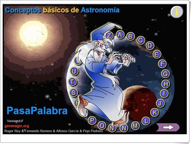 Pasapalabra CONCEPTOS BÁSICOS DE ASTRONOMÍA (5º y 6º de Primaria)
