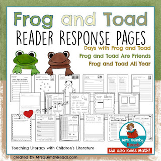 children's literature, frog and toad, MrsQuimbyReads, write about reading