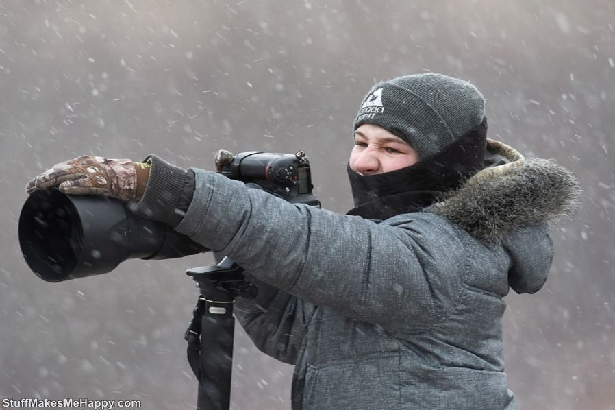 6. Weather conditions are also sometimes unpredictable, but the young photographer does not stop anything