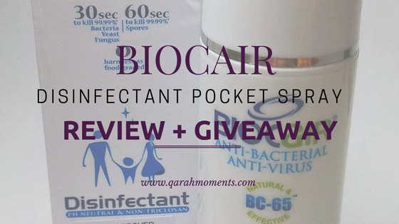 BioCair Disinfectant Pocket Spray