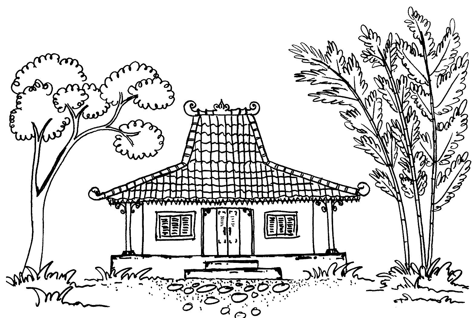 182 Sketsa Gambar Rumah Untuk Mewarnai Tk