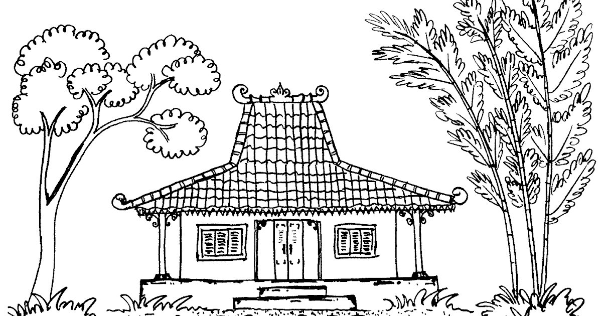 Gambar Rumah Adat Jawa Hitam Putih Wwwgenialfotocom