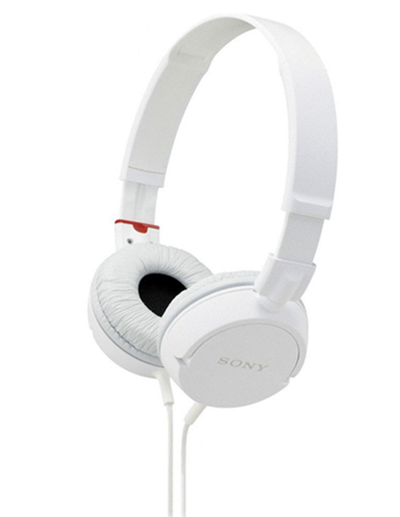 O  fone de ouvido Sony MDR-ZX100 traz excelente qualidade e resistência em um fone com baixo preço