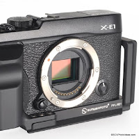 New Custom L Bracket with Grip for Fujifilm X-E1 from Sunwayfoto