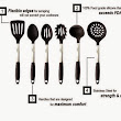 Temporary Waffle: Pro31Living Silicone Kitchen Utensil Set