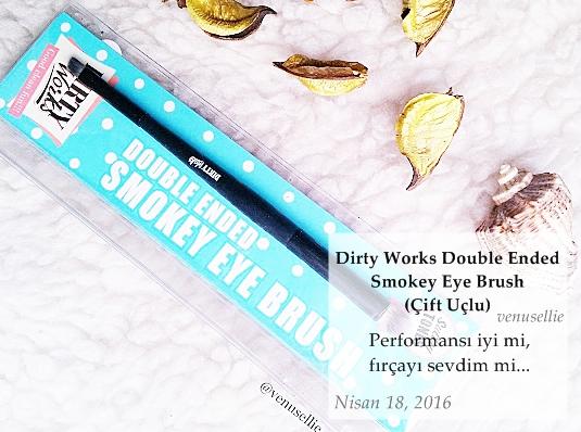 Dirty Works Double Ended Smokey Eye Brush (Çift Uçlu)