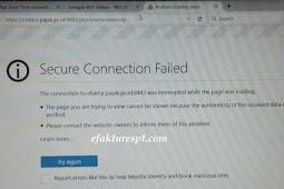 Tidak Bisa Minta Nomor Seri Faktur Pajak di Enofa Online, Secure Connection Failed