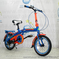 Sepeda Lipat Exotic 16-2658-Color Rainbow 6 Speed 16 Inci