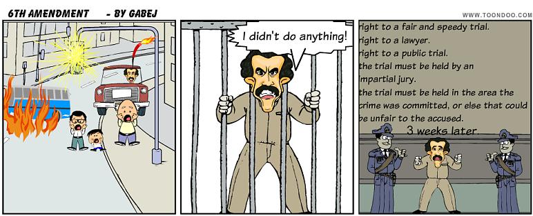 Sixth amendment : cartoon