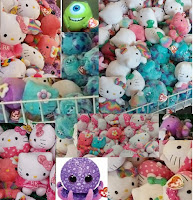 TY beenie babies DOLLAR TREE Hello Kitty mermaid punk rainbow Monsters Inc Mike Sulley octopus haul