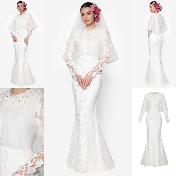 Baju Pengantin Terkini 2016 2017 Rizalman Bridalwear Frangipani Organza Lace Dress