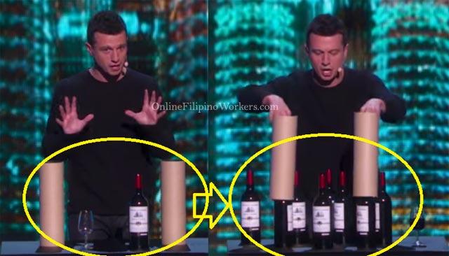 Watch Multiplied Wine Bottles by Mat Franco Wowed Americas Got Talent