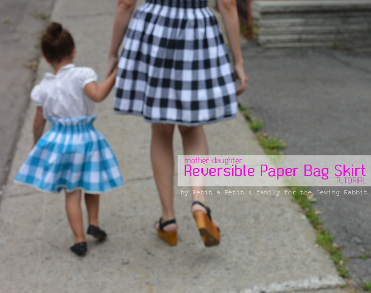 f7f14102bb497 How to Sew a Reversible Paper Bag Skirt for Little Girls and Women