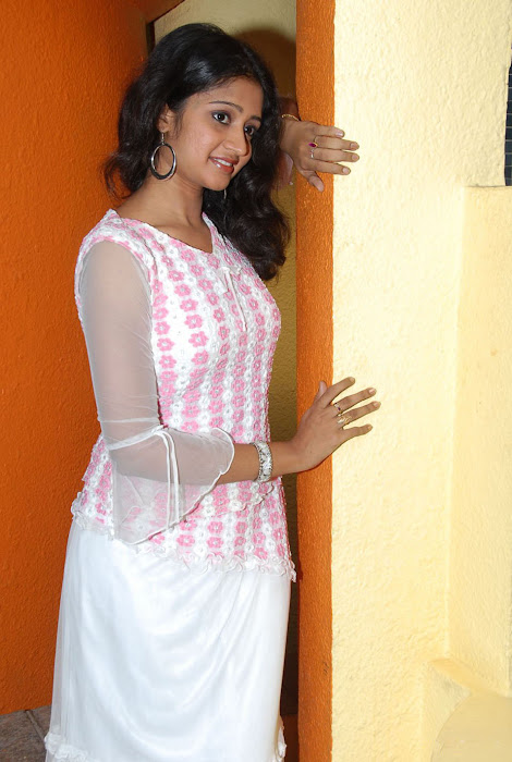 sandeepthi in white dress unseen pics