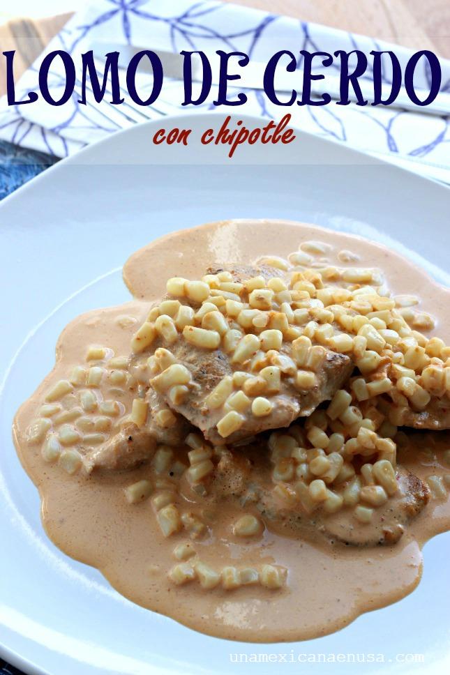 Lomo de cerdo con chipotle by www.unamexicanaenusa.com