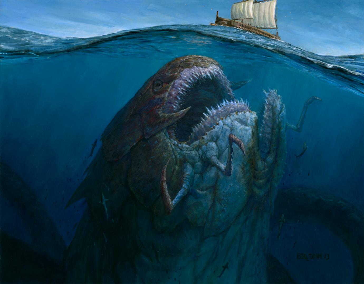 Giant Sea Monster Art