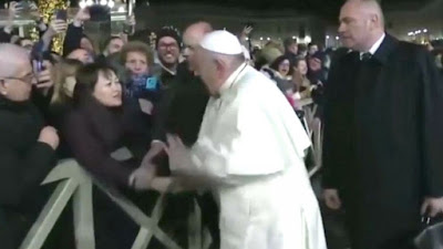 Pope slapping girl