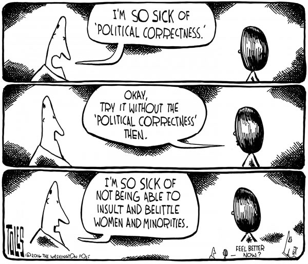personal reflections confusions over political correctness  a sound and fury that distracts from real discussion political correctness or pc has become a symbol of dividing views one used to lambaste opponents