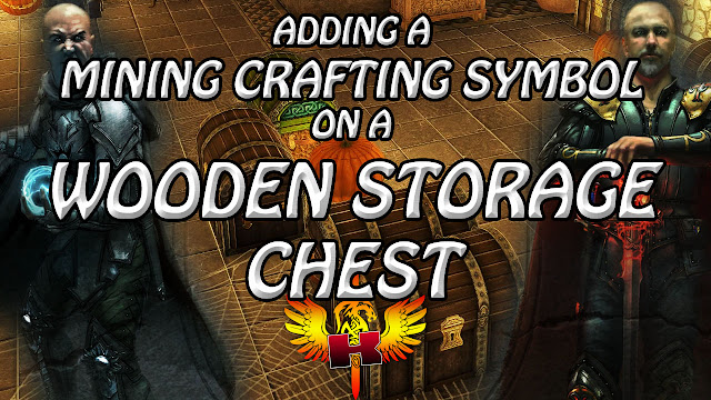 Adding A Mining Crafting Symbol On A Wooden Storage Chest In Shroud Of The Avatar