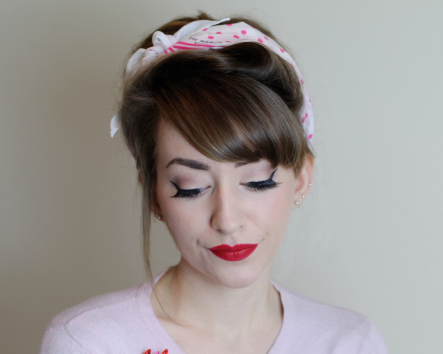 Review of best false lashes for easy everyday eyes - the Betty by The Vintage Cosmetics Company