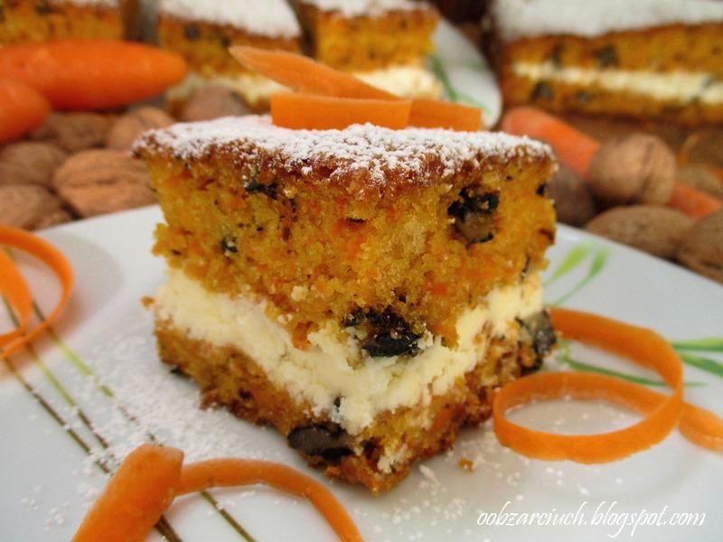 Ciasto Marchewkowe Z Orzechami I Kremem Obzarciuch