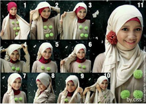 Model jilbab pashmina kebaya dan cara memakainya