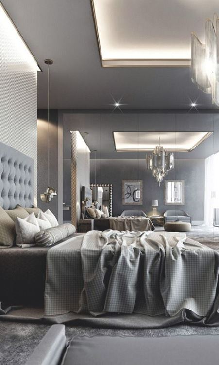 grey bedroom interior design